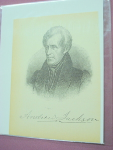 1898 Illustrated Page President Andrew Jackson