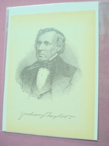 1898 Illustrated Page President Zachary Taylor