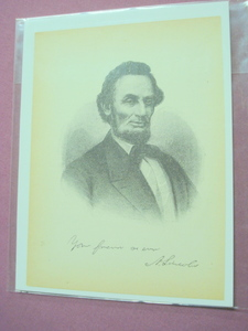 1898 Illustrated Page President Abraham Lincoln