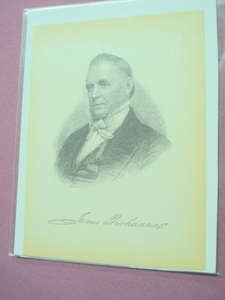 1898 Illustrated Page President James Buchanan