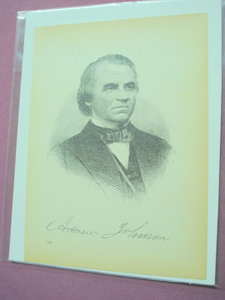 1898 Illustrated Page President Andrew Johnson