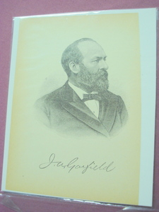 1898 Illustrated Page President James A. Garfield