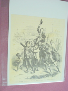 1860 Illustration Colonel Wood Being Cheered