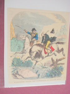 1860 Colored Illustration Washington Rallies Horseman