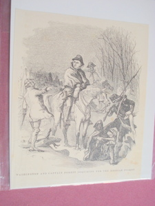 1860 Illustration George Washington and the Hessians
