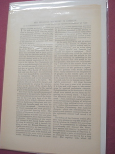 1889 Magazine Article The Religious Movement In Germany