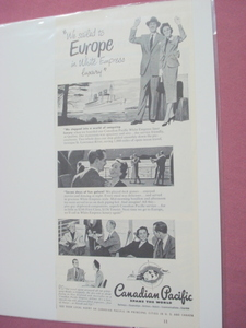 1951 Canadian Pacific White Empress Liner Ad CP