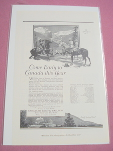 1920 Canadian Pacific Railway Ad