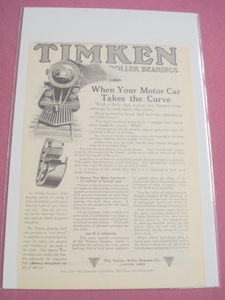 1914 Railroad Ad Timken Roller Bearings Co Canton Ohio