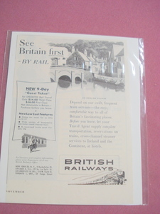 See Britain First British Railways 1950's Ad