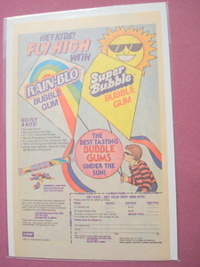 1987 Rain-Blo and Super Bubble Bubble Gum Color Ad