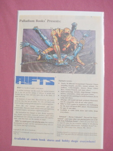 1991 Palladium Books Rifts Ad