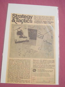 1970's Strategy & Tactics Magazine Ad-Simulations Pub.