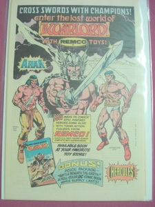 1983 Remco Warlord Action Figures Color Ad