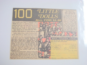 1970's Color Ad 100 Little Dolls