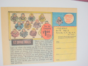1961 Color Ad 12 Little Dolls