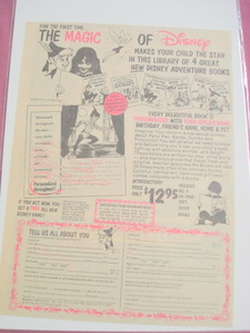 1977 Magic of Disney Book Ad Bambi, Dumbo, Peter Pan +