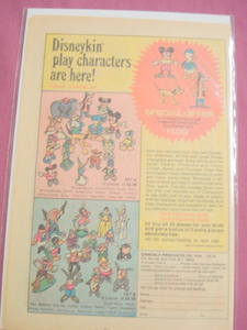 1974 Disneykin Play Characters Color Ad Disney