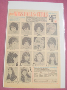 1970's Glamour Wigs, Falls, & Curls Ad 14 Styles!