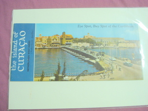 50s/60s The Island of Curacao Color Travel Brochure