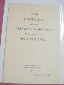 Belgian Workmen In England 1917 WWI Booklet
