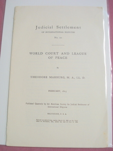 World Court and League of Peace 1915 WWI Booklet