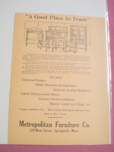 1918 Ad Metropolitan Furniture Co., Springfield, Mass