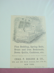 1893 Ad Chas. P. Rogers & Co. Bedding-New York
