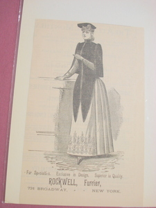1889 Illustrated Ad Rockwell, Furrier, New York