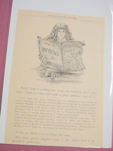1893 Pears' Soap Ad With Little Girl Illustration Pears