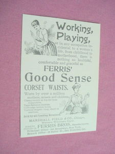 1893 Illustrated Ad Ferris Brothers Corsets