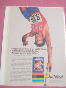 1983 Activision Decathlon Video Game Color Ad-Atari