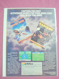 1983 Activision Kaboom! & River Raid Video Game Ad