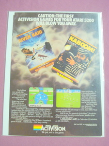 1980's Activision Kaboom! & River Raid Video Game Ad