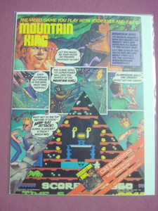 1983 Mountain King Video Game Color Ad-CBS Electronics