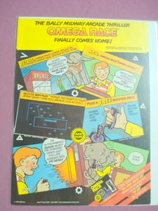 1983 Omega Race Video Game Color Ad-CBS Electronics