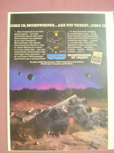 1983 Imagic Moonsweeper Video Game Color Ad