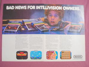 1982 Color Ad 4 Imagic Video Games For Intellivision
