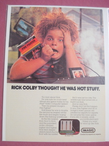 1982 Imagic Fire Fighter Video Game Color Ad