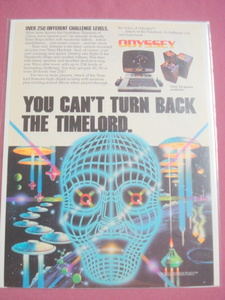 1983 Attack of the Timelord Odyssey Video Game Color Ad