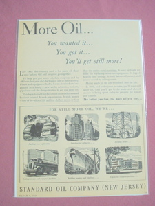 1949 Standard Oil Company New Jersey Ad