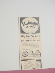 1955 St. Joseph Aspirin Why Ever Pay More Ad