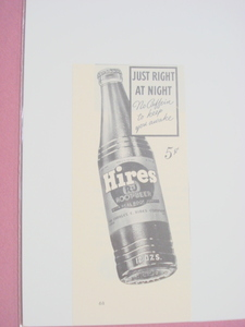 1940 Hires Root Beer Ad Just Right At Night