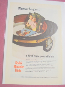 1945 Kodak Minicolor Prints Ad In Color