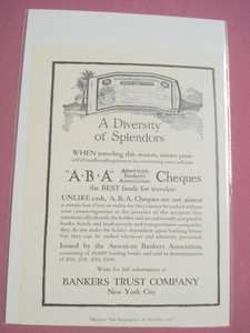1920 Bankers Trust Company, NYC Ad