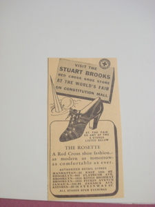 1939 New York World's Fair Stuart Brooks Shoe Store Ad
