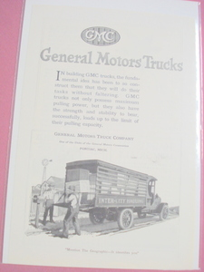 1920 General Motors Truck Ad GMC
