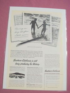 1945 Southern California Vacation Planning Ad