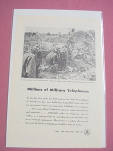 Bell Telephone System 1945 World War II Ad