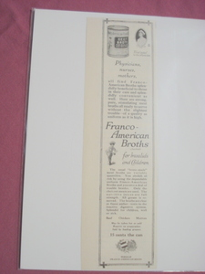 1917 Ad Franco-American Broths For Invalids & Children